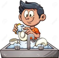 boy washing dishes clipart. Perfect Clipart Boy Washing Dishes Vector Clip Art Illustration With Simple Gradients  Some Elements On Separate For Washing Dishes Clipart 123RFcom