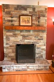 Stone Fireplace Remodel Cool Adding A Mantel To A Stone Fireplace Remodel Interior