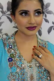 purple ombre lips modern bridal makeup photoshoot prom