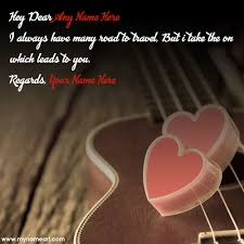 Couple Name Edit On Guitar And Love Quotes Pictures Wishes Beauteous Love Pics With Name Edit