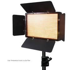 LED Barn Door Light Panel with Light Stand Tripod, Including Color ...