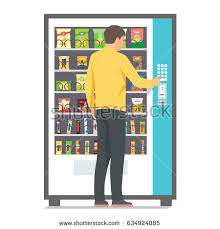 Vending Machine Clip Art Free New Man Using Vending Machine Snacks Vector Stock Vector Royalty Free