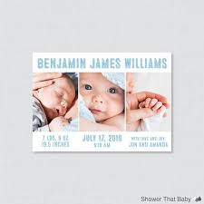 Printed Birth Announcement Printable Or Printed Birth Announcement Cards Photo Collage Birth