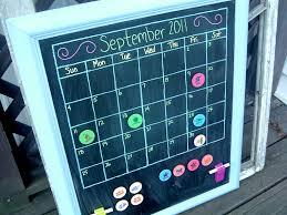 magnetic chalkboard calendar make your own