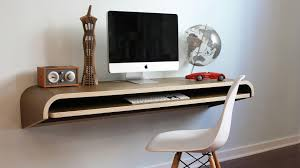 No room for a full-blown office? Wall-mounted desks are the way