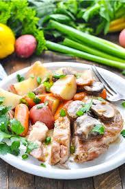 slow cooker pork chops with vegetables