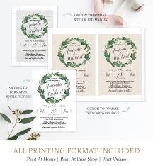 Rsvp Template Online Laurel Wreath Wedding Invitation Suite Rsvp Details Card Printable Template C2