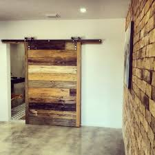 Sliding Interior Barn Doors Ideas Furniture Amazing Large Single Sliding  Barn Door With Brick Wall Exposed Feat White Wall Painted As Inspiring  Rustic Half ...