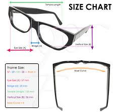 Sunglasses Frame Size Chart Eye Glasses Size Chart Eyewear Eye Prescription Optician