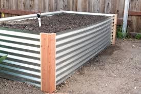 pretty corrugated metal raised garden beds perth