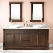 bathroom glowing mirror sink cabinet quot claudia double vanity for semi recessed sinks antique coffee