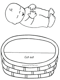 Baby Moses Coloring Page Baby Coloring Pages Coloring Pages And