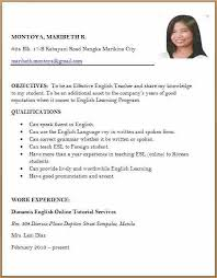 Resume Format Work Experience Adorable Res Spectacular Resume Format Sample For Job Application Like