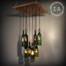 Making Wine Bottle Lights Hanging Pendant Lights In Kitchen And Miraculous Hanging Pendant