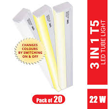 Colour Changing Tube Light Imee 3 In 1 T5 Colour Changing Led Tube Light 22 Watts 2200 Lumens Length 1180 Mm Pack Of 1