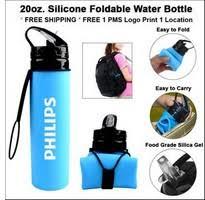 20oz. <b>Silicone Foldable Water Bottle</b>