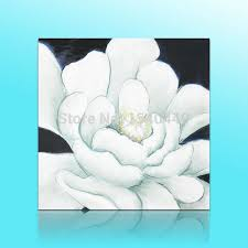 big white flower wall art