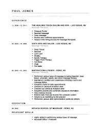 Sample Resume For Massage Therapist Massage Therapist Resume Sample