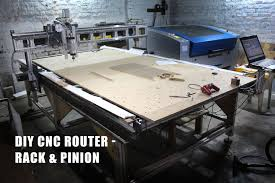 picture of diy cnc router build large format 5x10ft rack and pinion