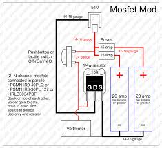 mosfet mod wiring diagram enclosure layout parts list openpv diagram drawing