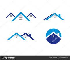 Beach House Logo Design House Logo Template House Logo Template Stock Vector