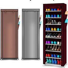 furniture shoe storage. 9 Tier Shoe Shelves Canvas Fabric Rack Storage Cabinet Rail Shoes Organizer Zipper Standing Sapateira Organizador Furniture-in Racks \u0026 Organizers Furniture T