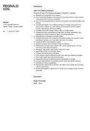 Fabric Assistant Resume Sample Velvet Jobs