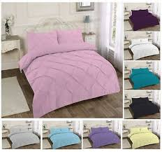 pintuck pinch pleat duvet cover with