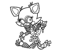 Nightmare Foxy Kleurplaat How To Draw Foxy And Mangle Kissing Step