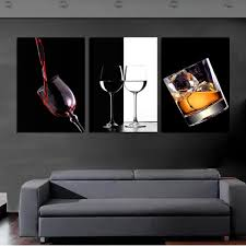 3 piece ice red wine cup bottle for bar canvas wall art paintings it make on wine bar wall art with 3 piece ice red wine cup bottle for bar canvas wall art paintings