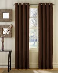 Pretty Curtains Living Room Dark Brown Fabric Curtains On Stainless Hook And Double Brown