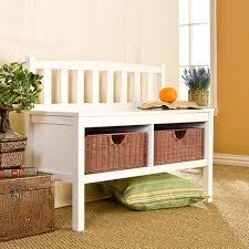 white entryway furniture. White Entryway Furniture. Amazon.com: Southern Enterprises Storage Bench With Rattan Baskets Furniture E