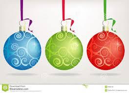 Trio Swirly Christmas Ornaments