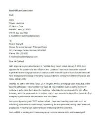 Banking Cover Letter Stunning Banking Cover Letter Examples Professional Sample Resume Format