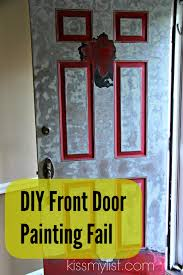 diy front door painting fail