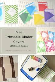 Free Printable Binder Covers Free Printable Binder Covers 4 Different Designs Housewife Eclectic