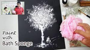 Bath Sponge Painting Techniques | Basic Easy Painting Idea