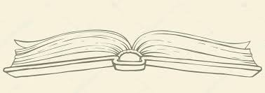 1022x362 vector drawing open book in hardcover stock vector marinka