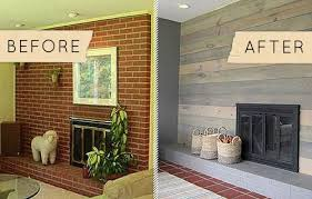 before u0026 after a kitschy midcentury fireplace goes from shabby to chic designsponge brick wall fireplace makeover 654 brick