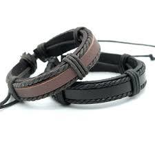 Hotting hand <b>woven Leather Braided</b> Wrap Bracelets <b>Trendy Rope</b> ...