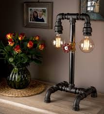 creative lighting ideas. Steampunk Lamp With Pipeline Retro Design Creative Ideas For Your Home Lighting G