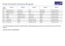 Christmas Program Templates Event Schedule Christmas Program Templates At