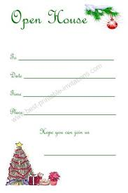 Christmas Open House Invitation Christmas Open House Invitations