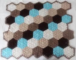 Hexagon Crochet Pattern Magnificent Free Crochet Pattern Hexagon Honeycomb Stroller Blanket Stitch