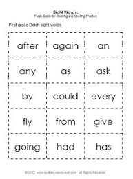 Second Grade Sight Words Flash Cards 2nd Grade Sight Words And Flash Cards