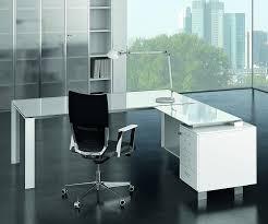 glass desk for office. pure white glass desk for office c