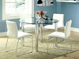 dining table set decoration round glass table set round glass top dining table set w 4