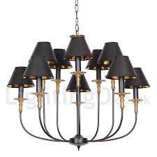 10 light rustic retro black bar 2 tier large chandelier candle style chandelier