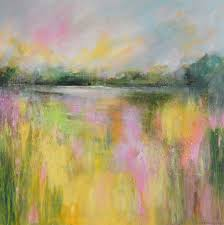 yellow field abstract landscape 29 large original abstract impressionist landscape painting on canvas