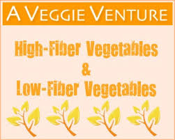 Low Fiber Vegetables Chart High Fiber Low Fiber Vegetables